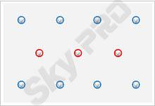 24 - Схема расположения точечных светильников на натяжном потолке