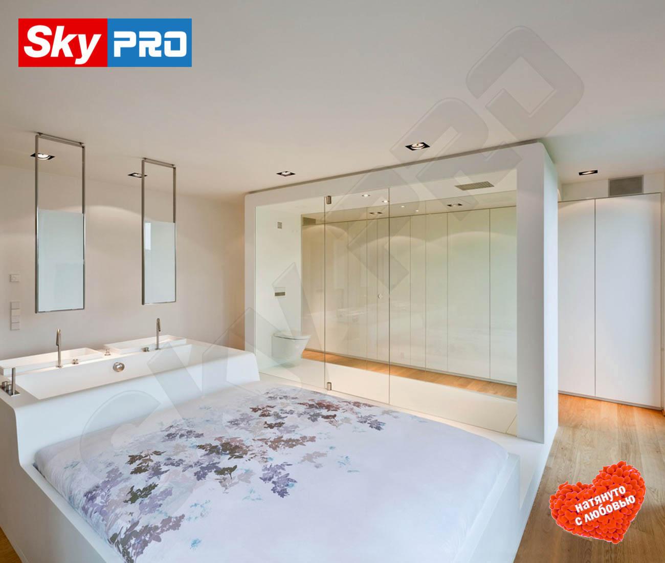 Белый тканевый потолок Descor цена за м2