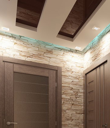Дизайн натяжных потолков в прихожей и коридоре