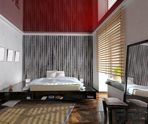Установка натяжного потолка в спальне в Печорах